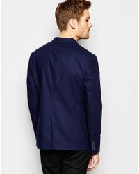 SELECTED - Blue Slim Casual Lightweight Suit Jacket for Men - Lyst