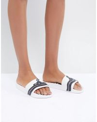 e2469bcc7f198 Melissa + Vivienne Westwood Anglomania White Beach Slides in White ...