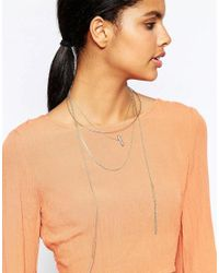 Orelia - Metallic Rough Cut Stone Layered Torque Necklace - Lyst