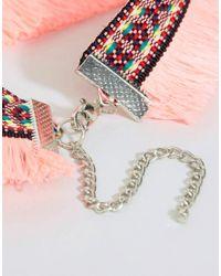 ASOS - Multicolor Festival Fringe Choker Necklace - Lyst