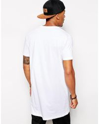 ASOS - Super Longline T-shirt In White for Men - Lyst