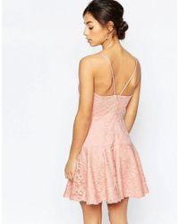 John Zack - Pink Cami Lace Prom Dress - Lyst