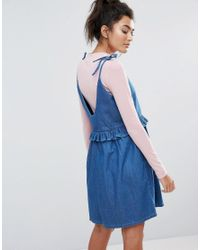 Lazy Oaf - Blue Bad Babydoll Denim Dress - Lyst