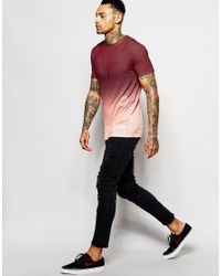 Hype - Brown Gradient T-shirt With Side Logo for Men - Lyst