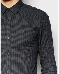 Original Penguin - Black Shirt In Heritage Fit for Men - Lyst