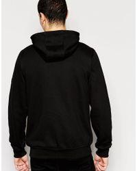 Original Penguin - Black Riginal Penguin Zip Through Hoodie for Men - Lyst