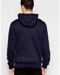Original Penguin - Blue Zip Through Hoodie for Men - Lyst