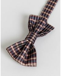ASOS - Multicolor Design Checked Bow Tie for Men - Lyst