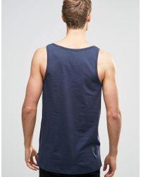 Only & Sons - Blue Skater Fit Vest for Men - Lyst