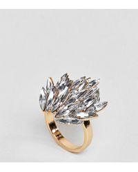 ASOS - Metallic Statement Jewel Ring - Lyst