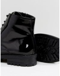 Faith - Black Brent Lace Up Boots - Lyst