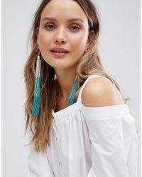 ASOS - Multicolor Statement Ombre Bead Tassel Earrings - Lyst