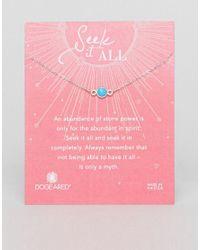 Dogeared - Metallic Sterling Silver Seek It All Turquoise Bezel Bracelet - Lyst