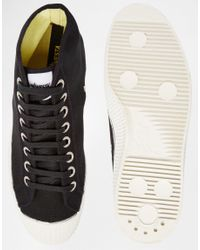 Novesta - Black Star Dribble Hi-top Plimsolls for Men - Lyst