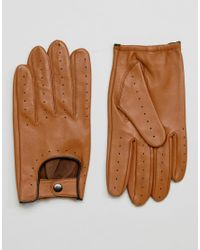 Barney's Originals - Brown Barneys Driving Gloves In Tan for Men - Lyst