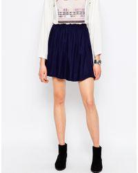 ONLY - Blue Magusti Skater Skirt - Lyst
