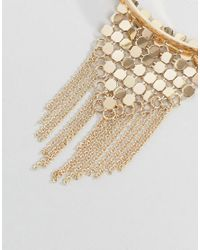 ASOS - Metallic Chainmail Draping Arm Cuff - Lyst