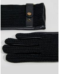 ASOS - Leather Driving Gloves In Black for Men - Lyst