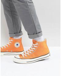 Converse Chuck Taylor All Star 70 Hi Plimsolls In Orange 159622c in ... bcb1cf28e