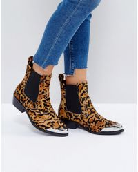 ASOS - Multicolor Amberley Leather Western Chelsea Boots - Lyst
