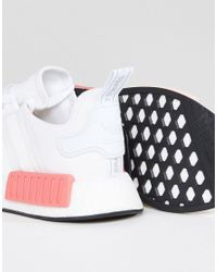 Adidas Originals - Nmd R1 Sneaker In White And Pink - Lyst