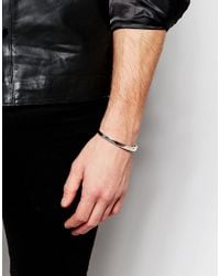 Seven London - Metallic Metal Bangle Bracelet In Silver Exclusive To Asos for Men - Lyst