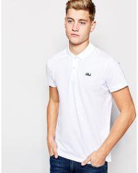 Jack & Jones - White Pique Polo Shirt With Jj Chest Logo for Men - Lyst