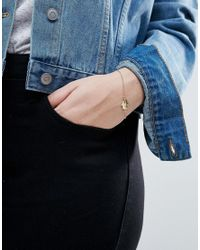 ASOS - Metallic Stone Detail Hamsa Hand Charm Bracelet - Lyst