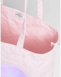 Monki - Pink Love Heart Tote Bag - Lyst