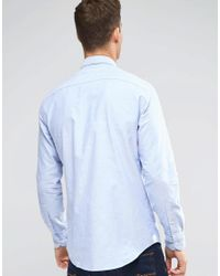 Tommy Hilfiger - Oxford Shirt In New York Regular Fit In Blue for Men - Lyst