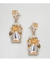 Bill Skinner - Metallic Statement Flower Earrings (+) - Lyst