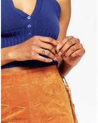 Kat&bee | Multicolor Kat & Bee Simple 14ct Filled Wire Ring With Brown Marble Bead | Lyst