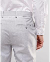 ASOS - Gray Skinny Smart Trousers In Pale Grey for Men - Lyst