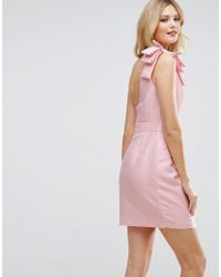 ASOS | Pink One Shoulder Mini Dress | Lyst