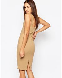 Missguided - Brown Buckle Detail Dress - Lyst
