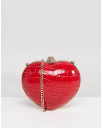 Dune - Red Babe Heart Shaped Clutch Bag - Lyst