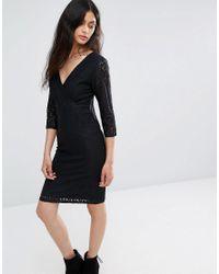 Blend She - Black Topsy Lace Dress - Lyst