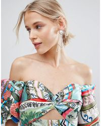 ASOS | Metallic Abstract Open Shape Earrings | Lyst