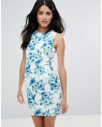 Zibi London | Blue Floral Shift Dress | Lyst