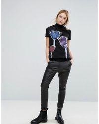 Sportmax Code - Black Adatti Tulip Graphic T-shirt - Lyst