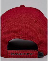 Oakley | Golf Ellipse Logo Baseball Cap In Dark Red for Men | Lyst