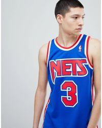 Mitchell & Ness - Nba New Jersey Nets Swingman Tank In Blue for Men - Lyst