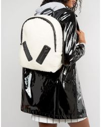 Skinnydip London - Multicolor Faux Shearling Backpack With Zip Detail - Lyst