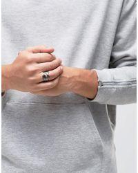 Icon Brand - Metallic Feather Ring In Gunmetal for Men - Lyst