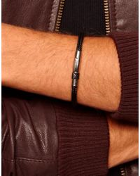 Emporio Armani | Black Logo Bracelet for Men | Lyst