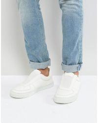 ASOS DESIGN - Asos Slip On Sneakers In White With Elastic for Men - Lyst
