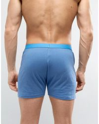 ASOS | Jersey Boxers With Blue Waistband 3 Pack Save for Men | Lyst