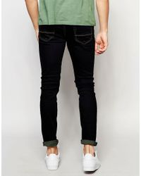 Threadbare | Blue Skinny Jeans In Mid Wash for Men | Lyst