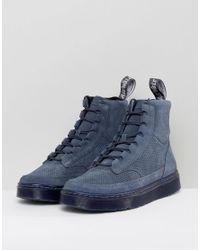 Dr. Martens - Blue Kamar Suede 8-eye Boots for Men - Lyst