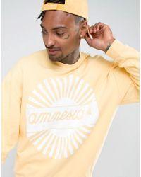ASOS - Yellow Oversized Sweatshirt With Amnesia Print for Men - Lyst